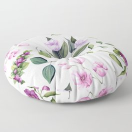 Watercolor Floral Pattern #4 Floor Pillow