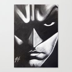 DARK HERO FACE Canvas Print