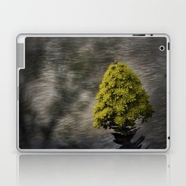 Blooming flowers with texture and vignette Laptop & iPad Skin