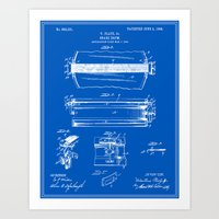drum Art Prints featuring Drum Patent by Finlay McNevin