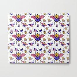 Magic Bugs pattern Metal Print