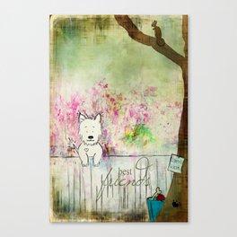Dog's Best Friend Canvas Print