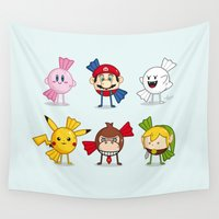 nintendo Wall Tapestries featuring Nintendo Treats by Nabhan Abdullatif