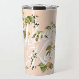 Peachy Keen : Peach Travel Mug