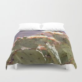 Prickly Pear Blooms I Duvet Cover