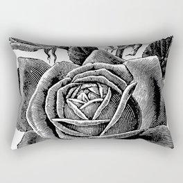 Engraved Rose Rectangular Pillow