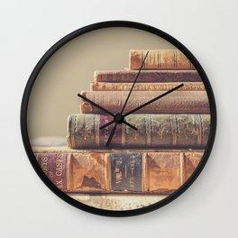 Vintage Books Wall Clock