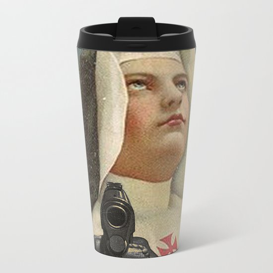 NUN WITH A GUN Metal Travel Mug