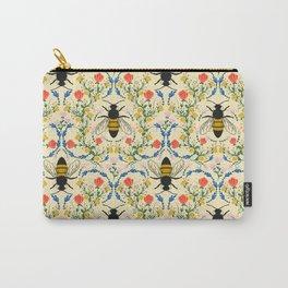 Bee Garden - Cream Carry-All Pouch