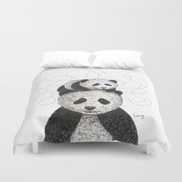 Panda Family Duvet Cover