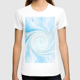 Ripple_Mosaics_IceBlue_Circle T-shirt