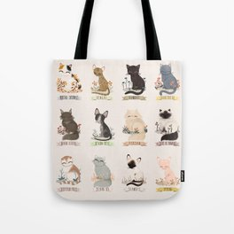 Cats Breed Tote Bag