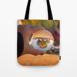 A Clearer View refraction photgraphy hot air balloons Tote Bag