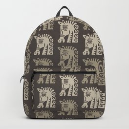 Mid Century Horse Pattern Neutral Backpack