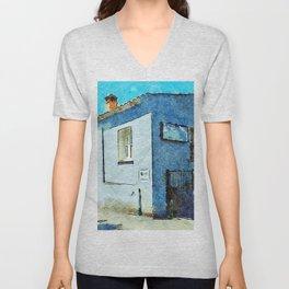 Blue house Unisex V-Neck
