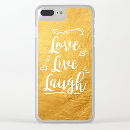 Love Live Laugh Clear iPhone Case