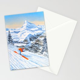Skiing - Catch Me If You Can Stationery Cards