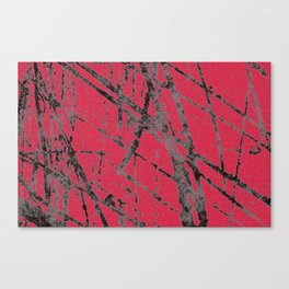 red black scratchy grunge Canvas Print