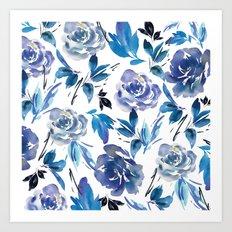 Royal Blue Garden 02 Art Print