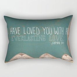 An Everlasting Love  |  Jeremiah 31:3 Rectangular Pillow
