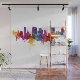 Birmingham Watercolor Skyline Wall Mural