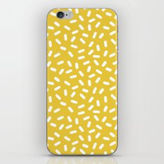 Somethin' Somethin' - yellow bright happy sprinkles pills dash pattern rad minimal prints iPhone & iPod Skin