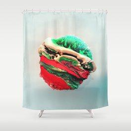 ACRYLIC BALL III // 3D ABSTRACT Shower Curtain