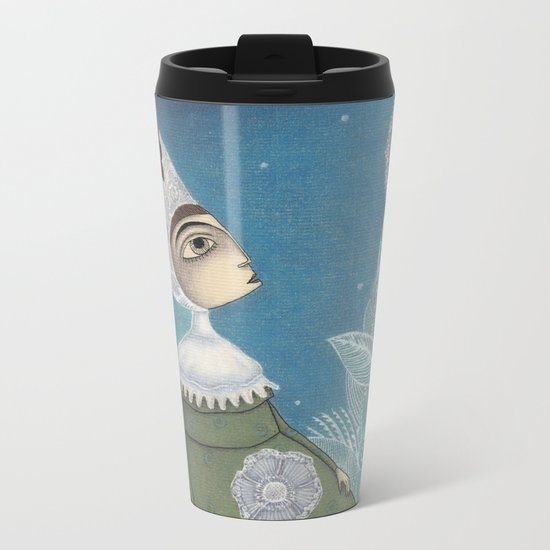 Soon, soon, Winter Moon! Metal Travel Mug