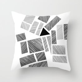 City Blocks and Triangle Throw Pillow