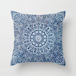 White mandala Throw Pillow
