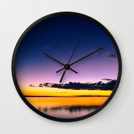 Dark color cloud in the night sky Wall Clock