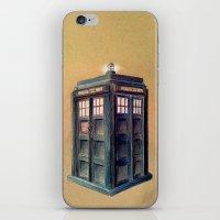 tardis iPhone & iPod Skins featuring TARDIS by Jordan