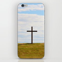 Cross On A Hill iPhone Skin