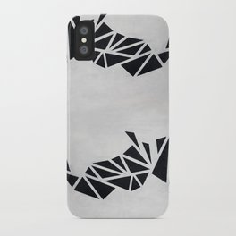 Geo Rhino (oil painting) iPhone Case