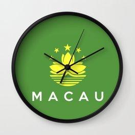 flag of Macau Wall Clock