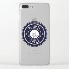 Whiskey & Cigars (Navy) Clear iPhone Case