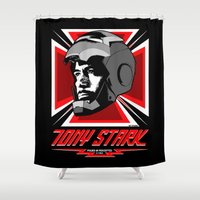arya stark Shower Curtains featuring Tony Stark by Ant Atomic