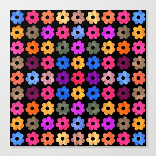 Colorful Floral Pattern III Canvas Print