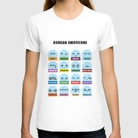 korean T-shirts featuring Korean Emoticons and Abbreviations by DomHyo