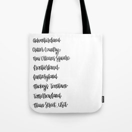 Happiest Lands on Earth Tote Bag