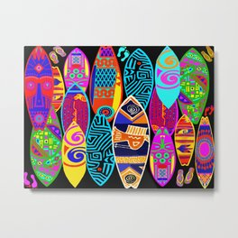 Hang Ten Surfboards Metal Print