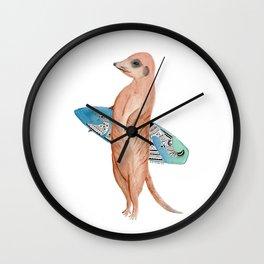Marvellous Meerkat Wall Clock