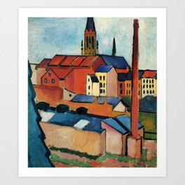 "August Macke ""St. Mary's with Houses and Chimney (Bonn)"" Art Print"