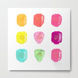Colorful 90s Polly Pocket Collection  Metal Print