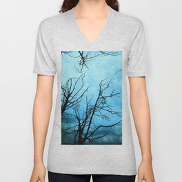 Aqua Skies Tree and Stars A163 Unisex V-Neck