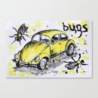 bugs Canvas Prints featuring bugs by sladja