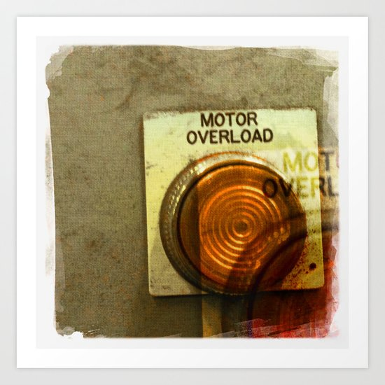 motor overload 1 Art Print