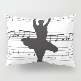 ballerina art, music Notes , girls nursery art, ballerina décor , girls nursery art , Pillow Sham