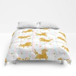 Unicorns sky dance Comforters