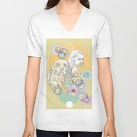 ginger V-neck T-shirts featuring ginger outlaws by Cassidy Rae Marietta
